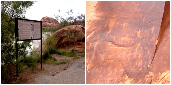 """Indian Writing"" petroglyphs in Arches National Park"