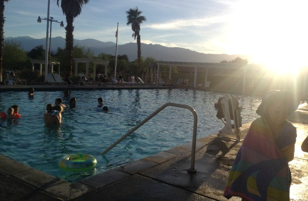 The Furnace Creek Ranch swimming pool.