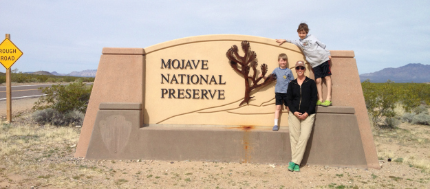Entrance to Mojave National Preserve