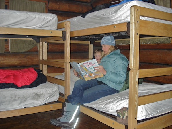 Beds in the Kings Hill cabin, Montana
