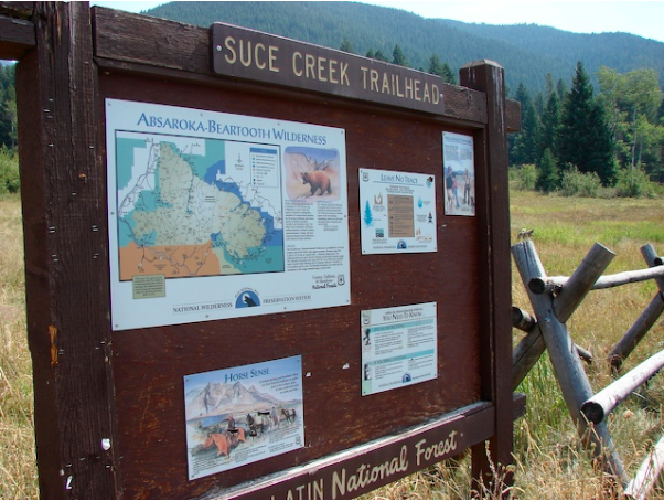 hike Suce Creek near Livingston Montana near Yellowstone National Park