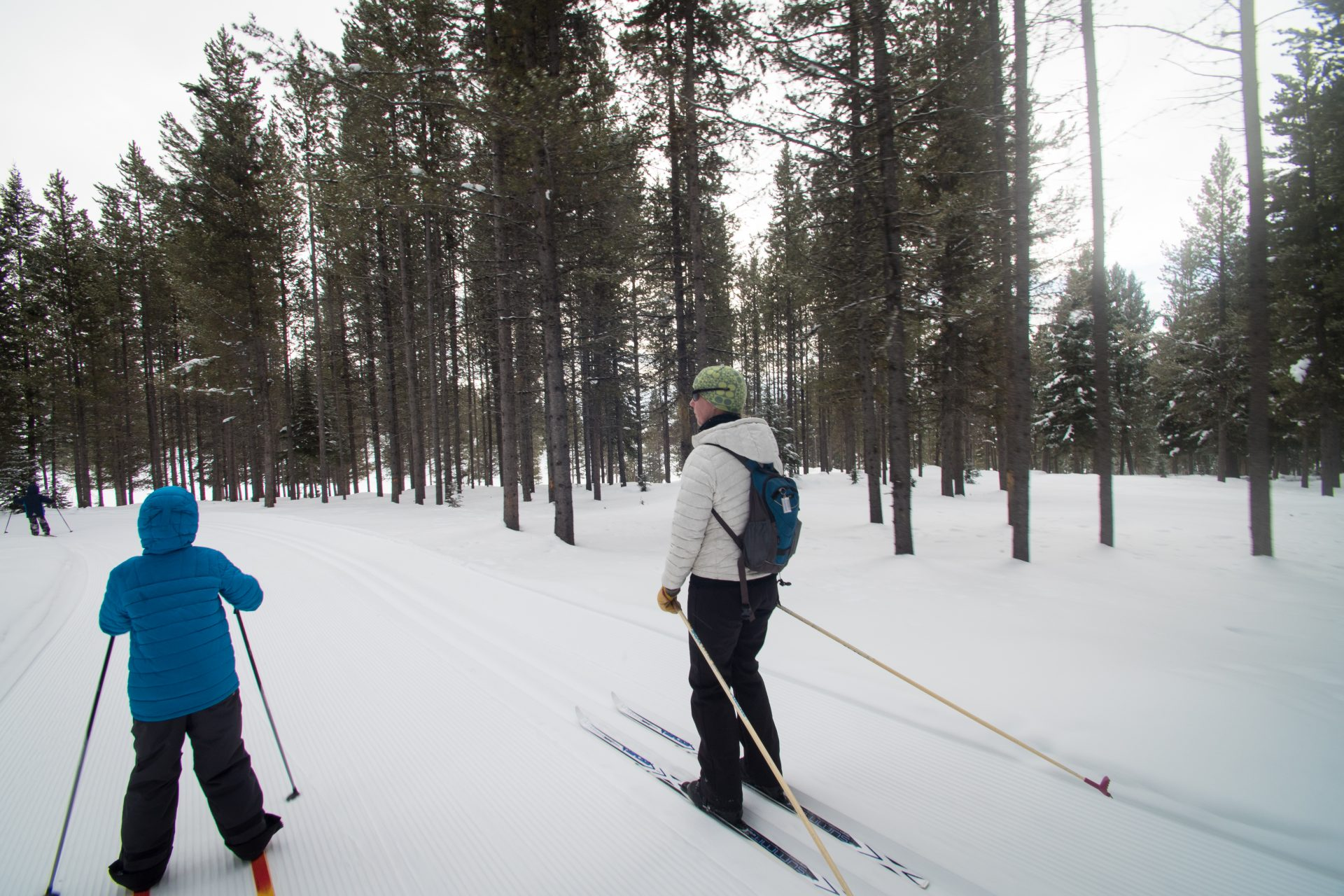 Cross country skiing in Big Sky Montana