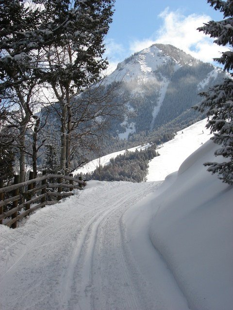 cross country skiing in montana bbar ranch