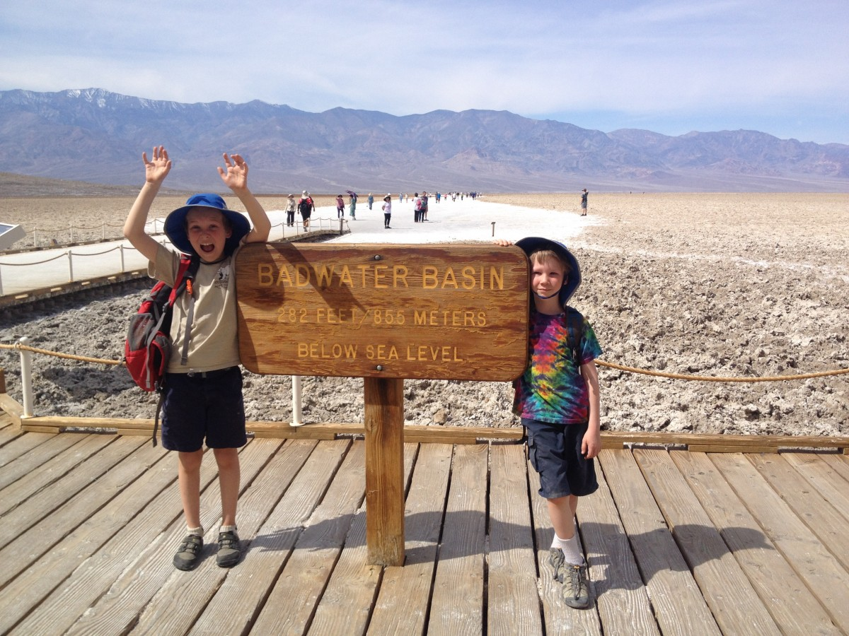 Badwater Basin sign death valley national park