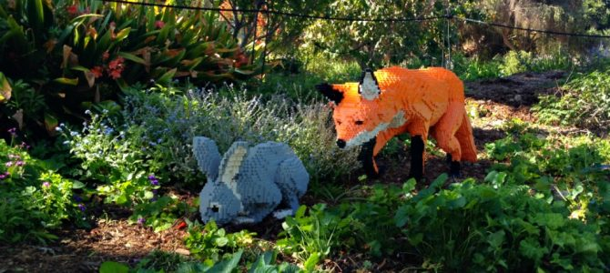 Lego art at the South Coast Botanic Garden