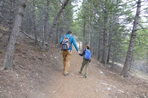 Hiking and biking trails in Helena Montana.