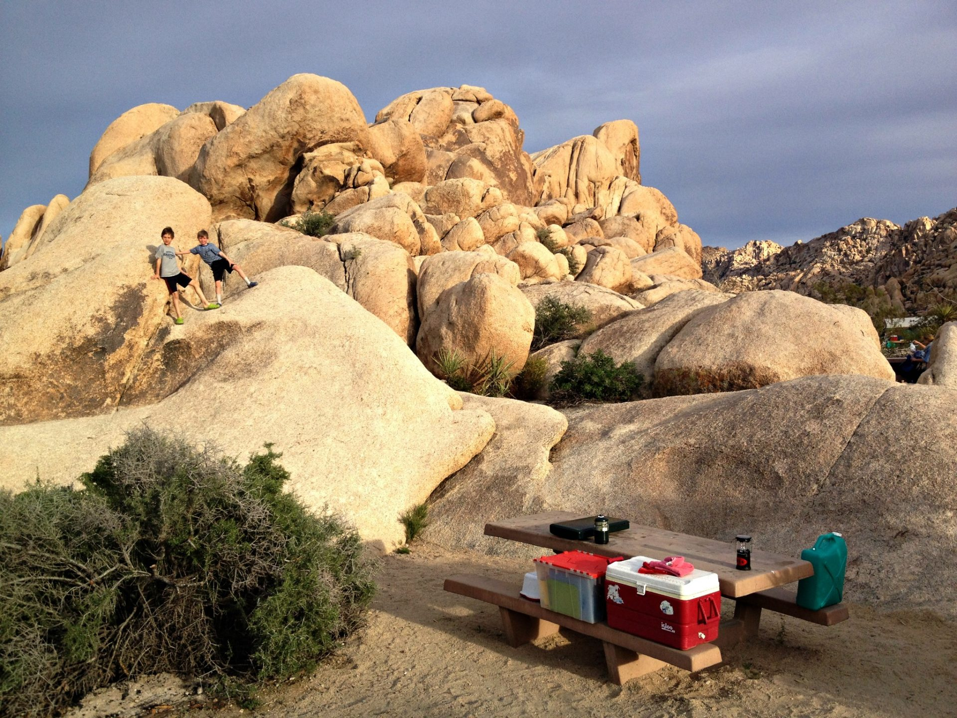 Joshua Tree National Park Camping India Cove bouldering