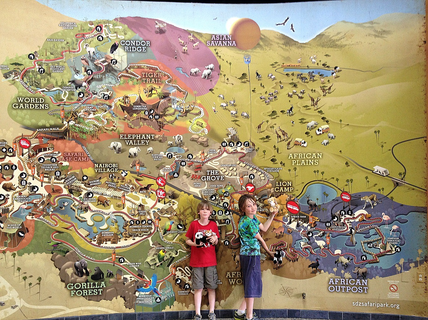 Visiting the Safari Park and planning your visit with a Safari Park map.