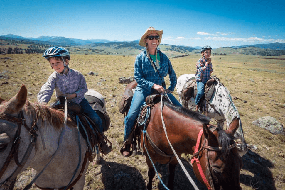 Horseback riding in Yellowstone National Park with Wilderness Pack Trips