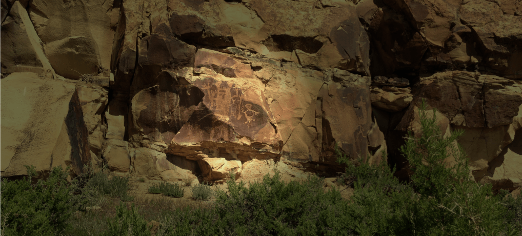 Legend Rock Petroglyphs near Thermopolis and Cody, Wyoming.