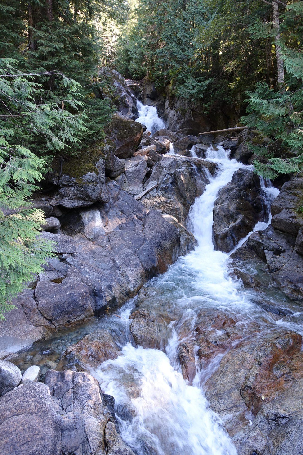 Deception Falls waterfall - one of Washington's Highway 2 roadside attractions