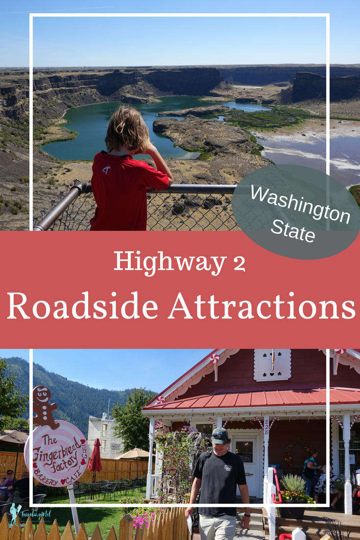 Take a Highway 2 scenic drive in Washington State and see all our favorite roadside attractions. Follow this road trip itinerary to see the world's largest waterfall, to a giant suit of armor, to Bigfoot, and more.