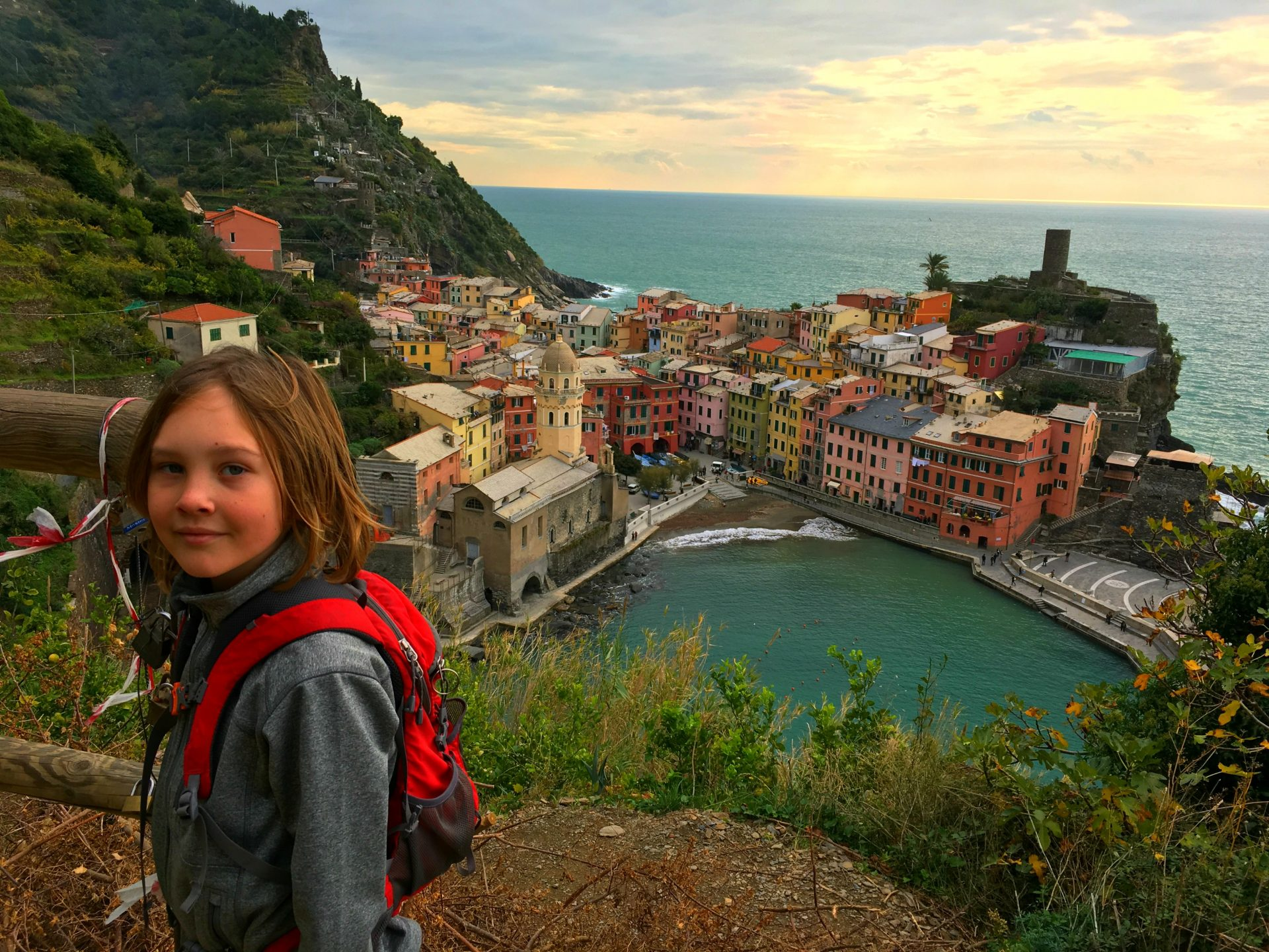 visiting cinque terre with kids, walking the cinque terre cinque terre by boat
