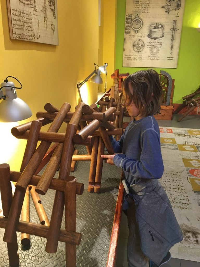 Things to do with kids in Florence Italy include museo leonardo da vinci
