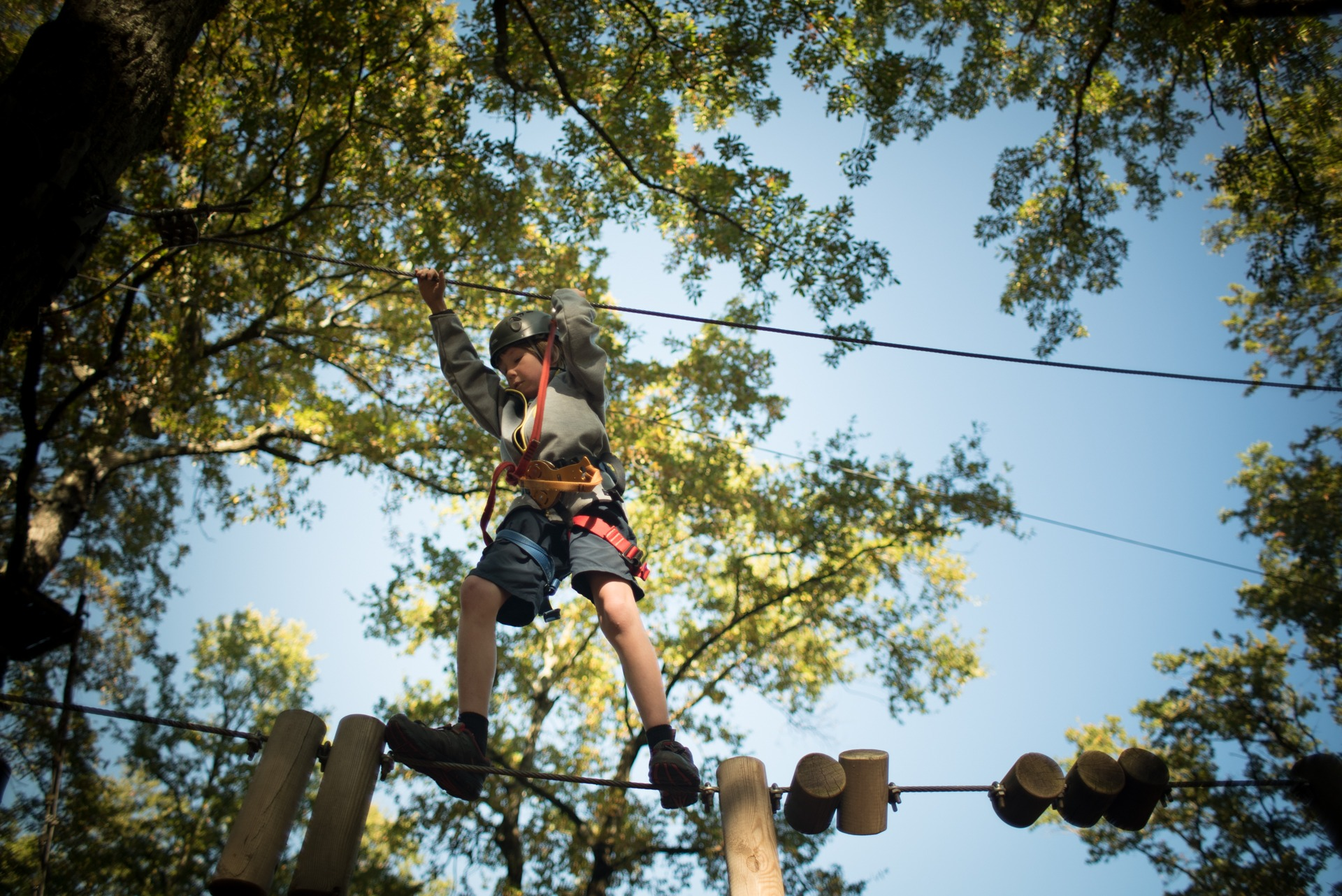 Things to do with kids in Florence Italy include Parco Avventura il Gigante ropes course
