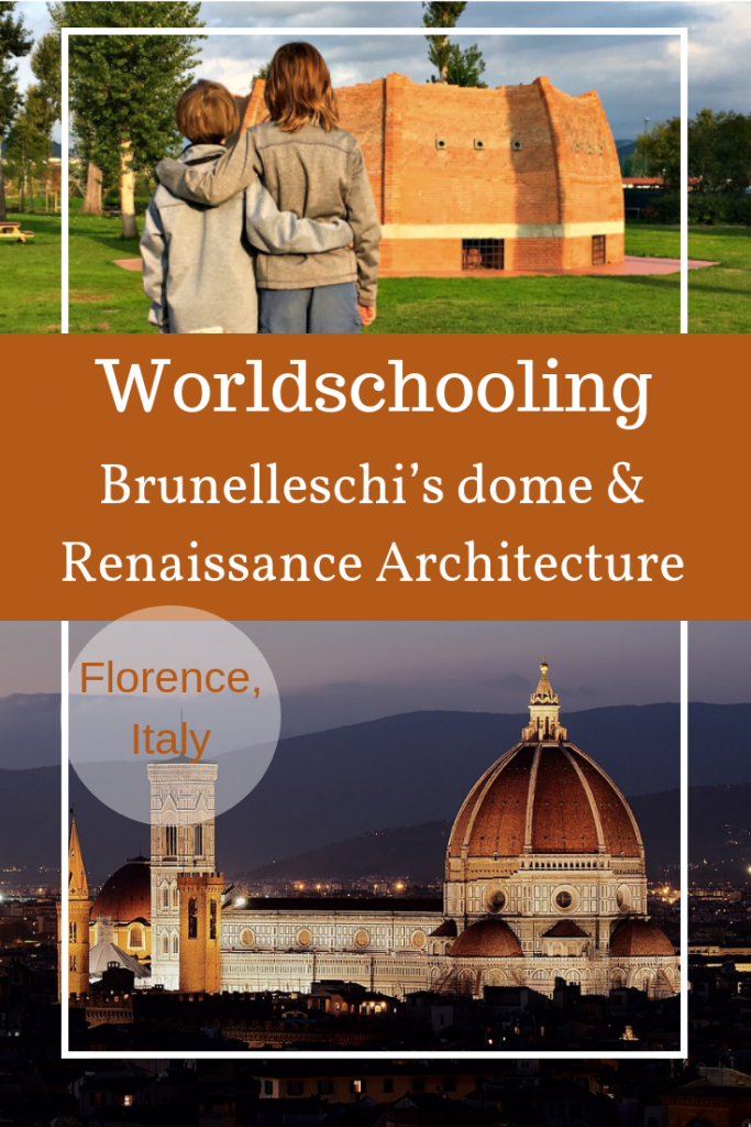We recently learned a little about Brunelleschi's dome in Florence, Italy by watching videos, visiting the dome, and checking out a 1/5 model of il Duomo's Dome.
