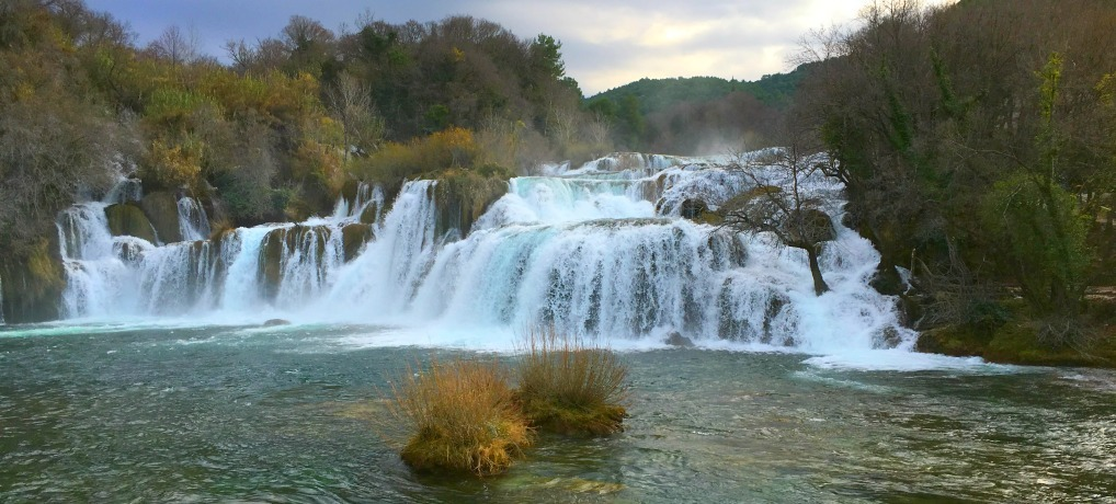Krka waterfalls in Croatia are the main draw of the park