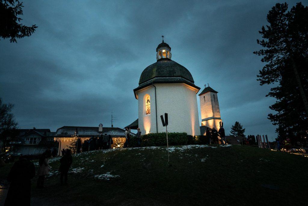 visiting silent night chapel on Christmas Eve