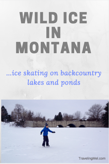 Ice skating on Montana's lakes and ponds.