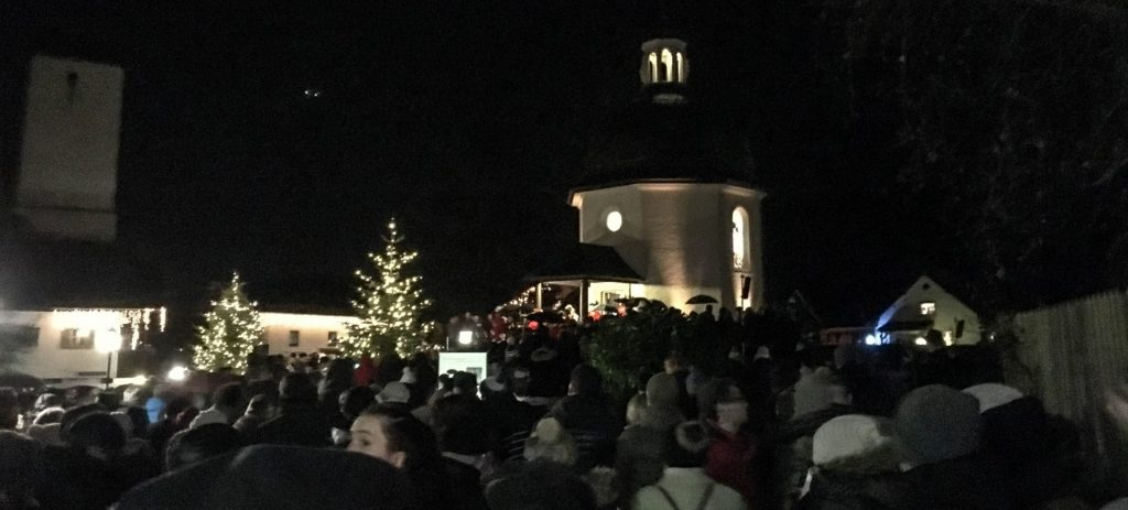 The best time to visit the Silent Night Chapel is on Christmas Eve at 5:00 pm