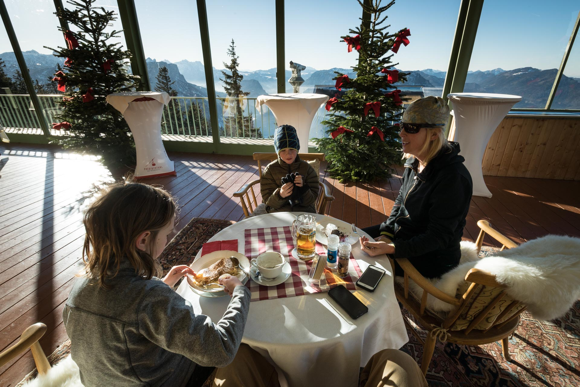 The restaurant in hotel predigtstuhl
