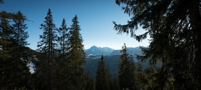 Hiking in the Alps: Predigtstuhl near Bad Reichenhall