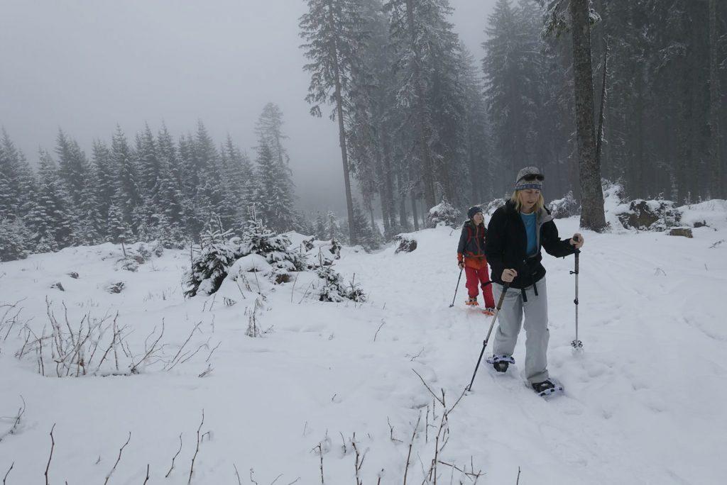 snowshoeing near Lake Bled Triglav National Park