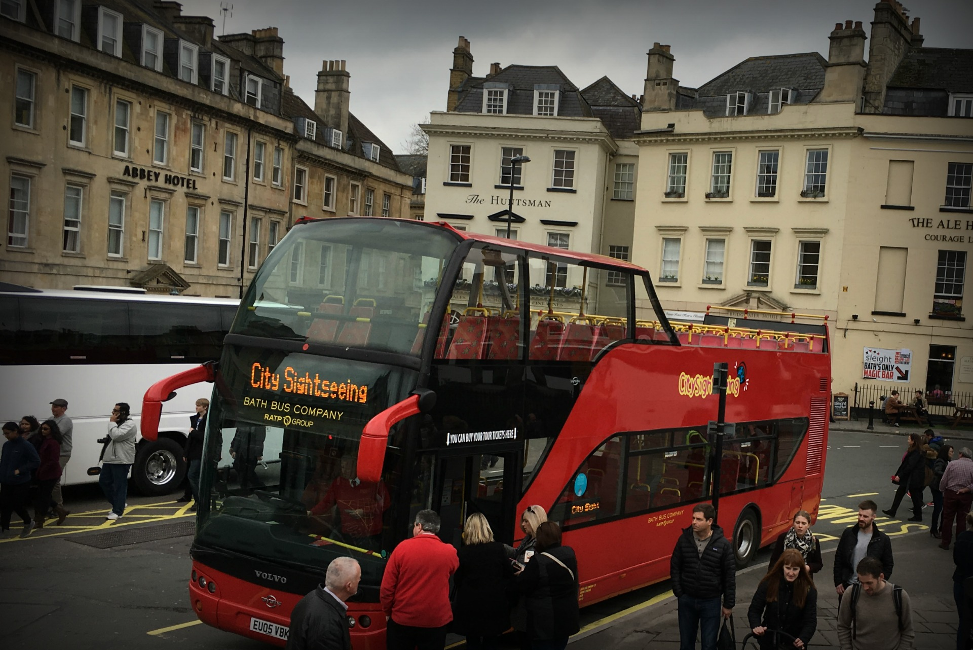 City Sightseeing hop-on hop-off bus in Bath England tours
