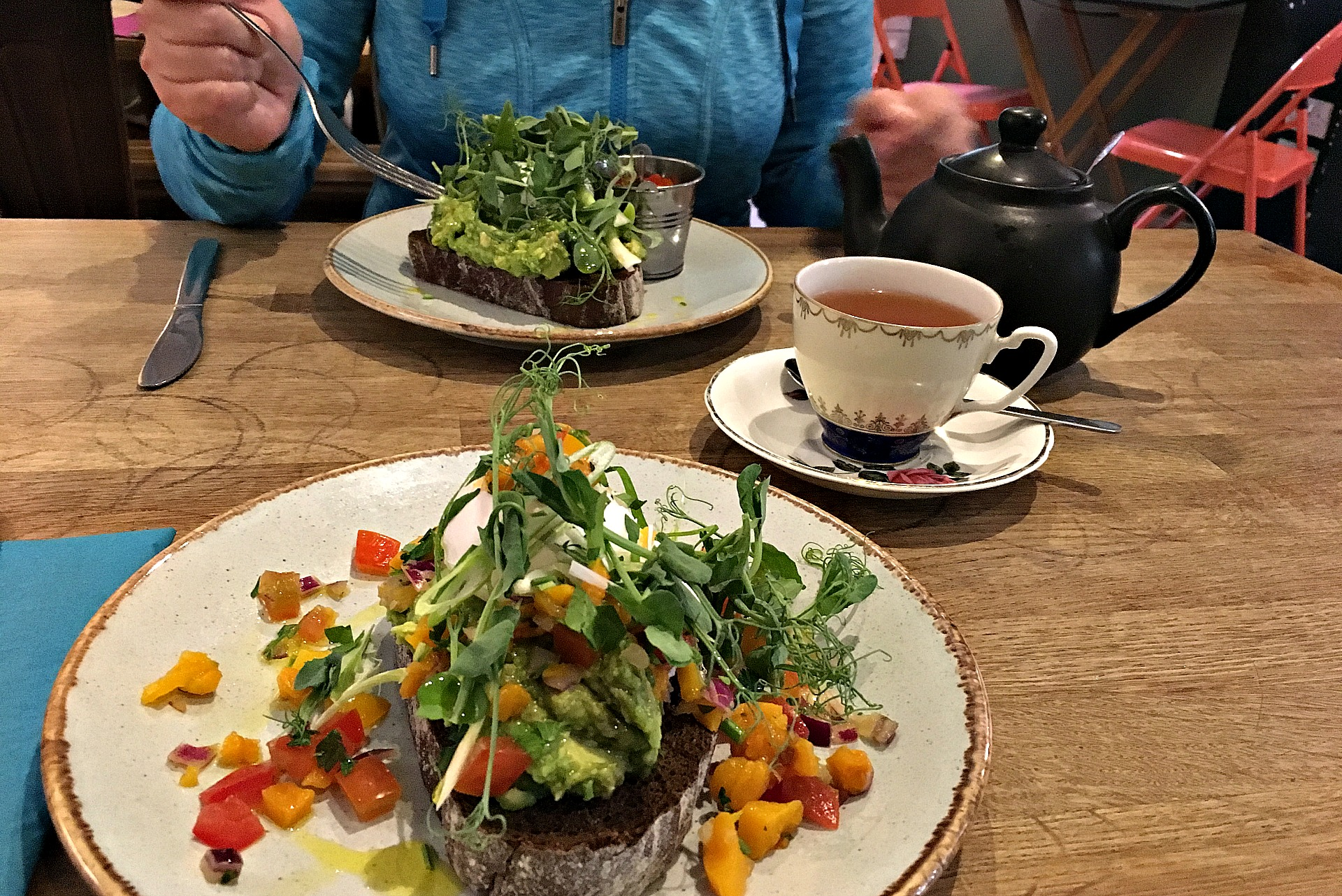 the best brunch is at the Pantry in Stockbridge