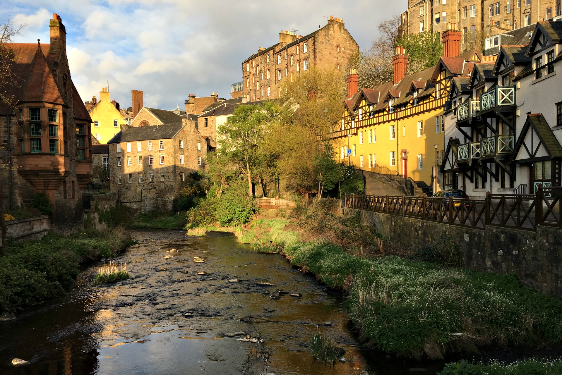 Dean Village is part of a girls' getaway in Edinburgh