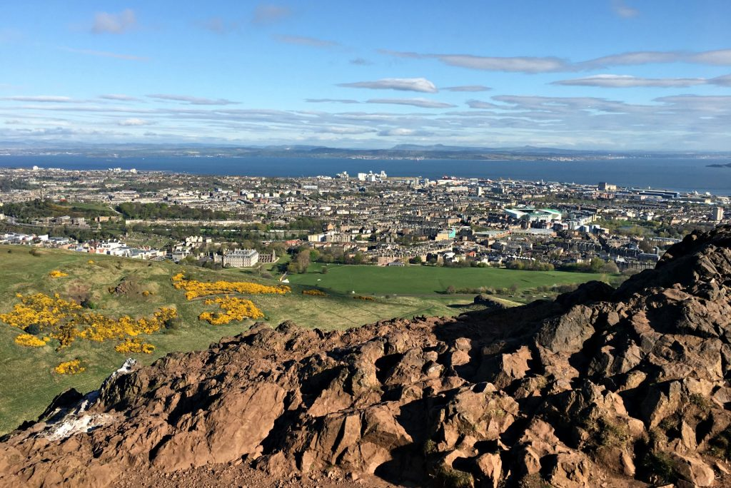 Arthur's Seat is an easy hike in Edinburgh