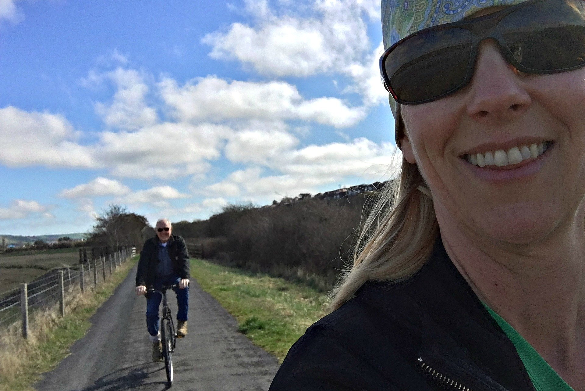 Multi-generational bike trip in England