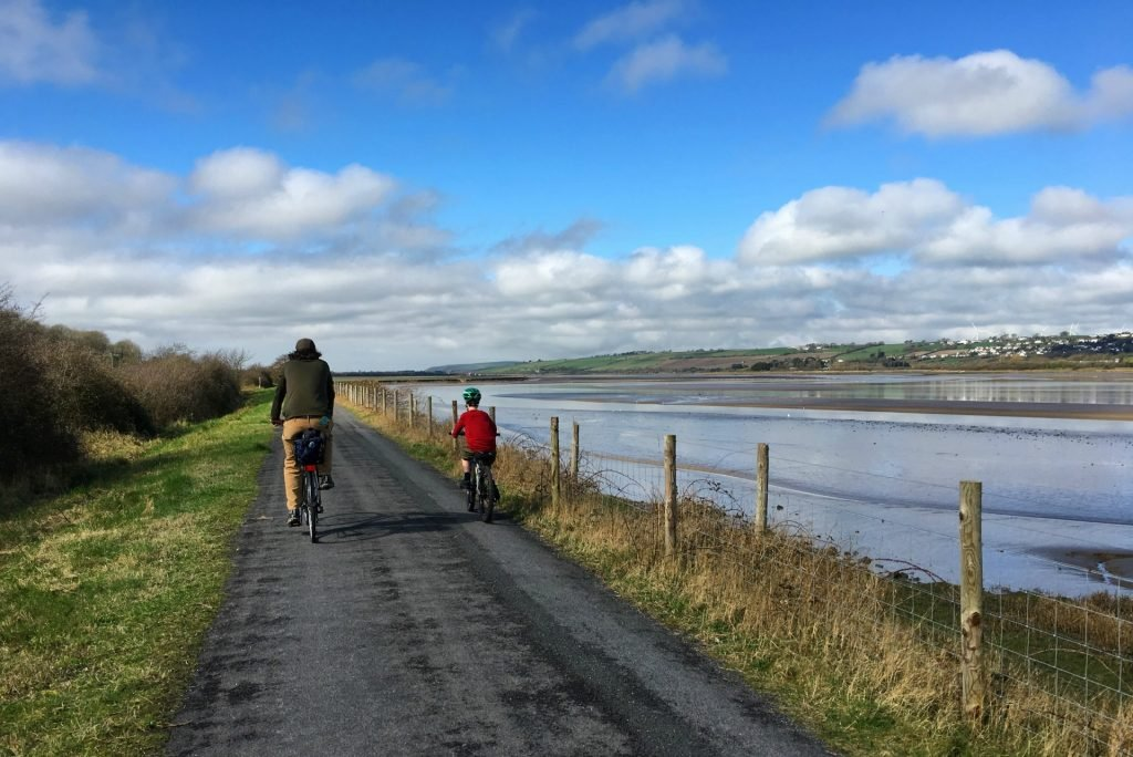 The Tarka Trail is a good family bike ride in northern Devon England