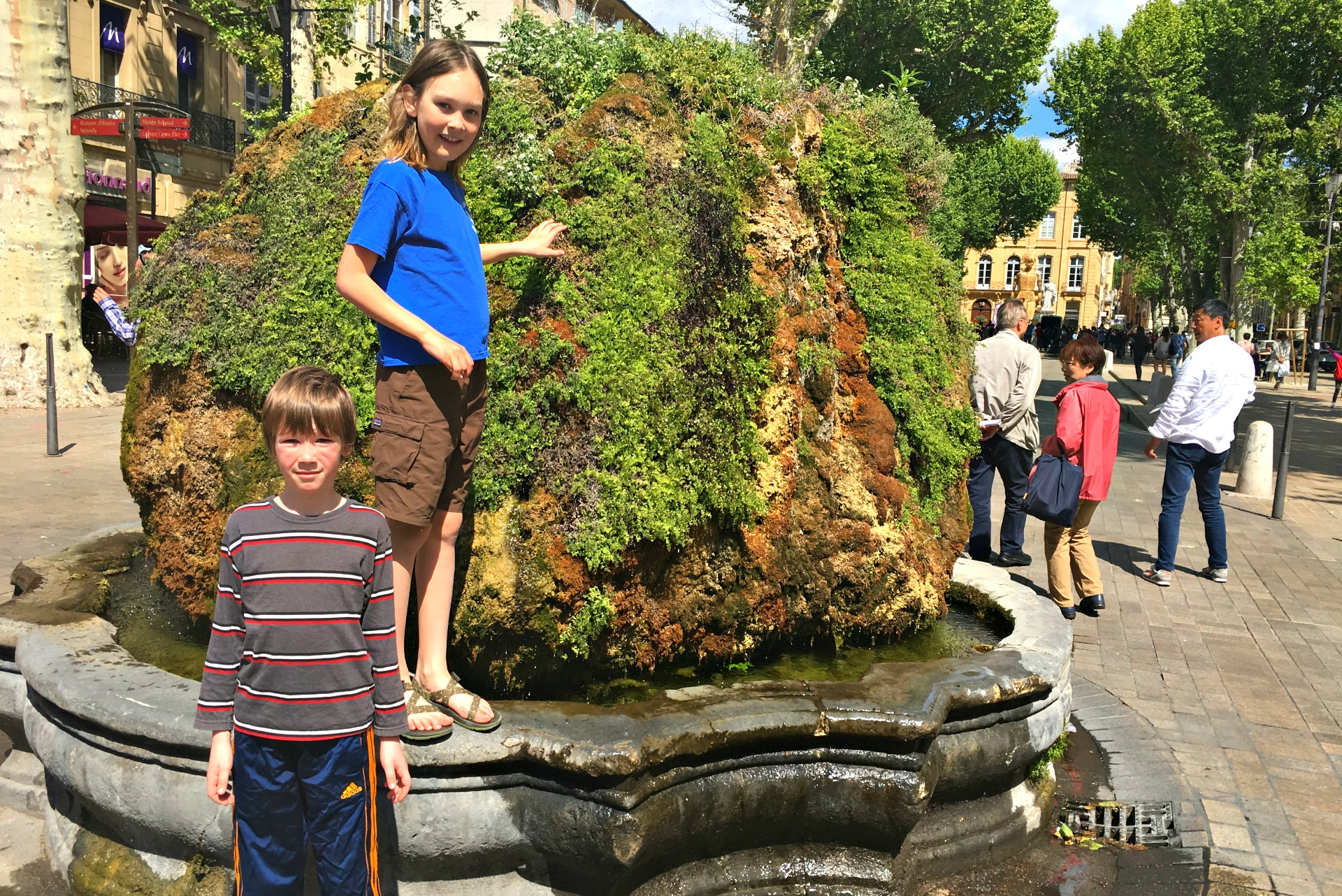 Moss covered fountains in Aix-en-Provence