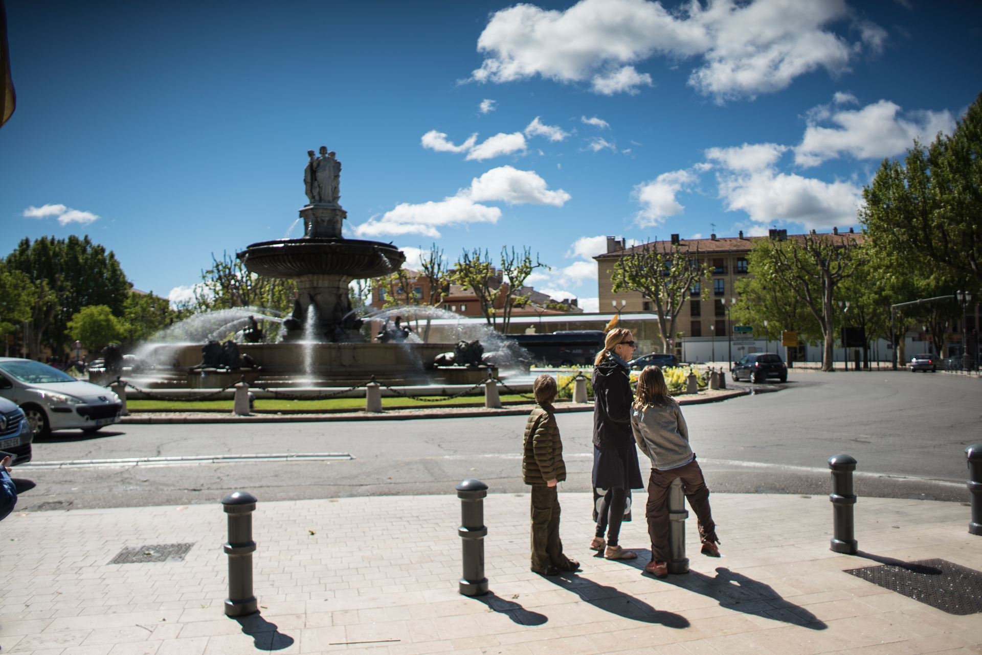 Go on a fountain hunt when visiting Aix-en-Provence with kids