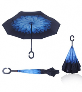 reversible umbrella for sun or rain