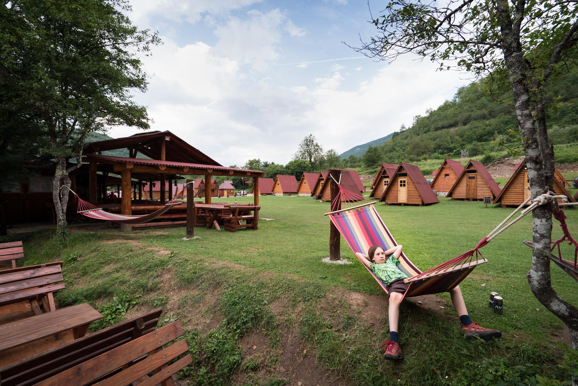 relaxing at Rafting Center Drina Tara