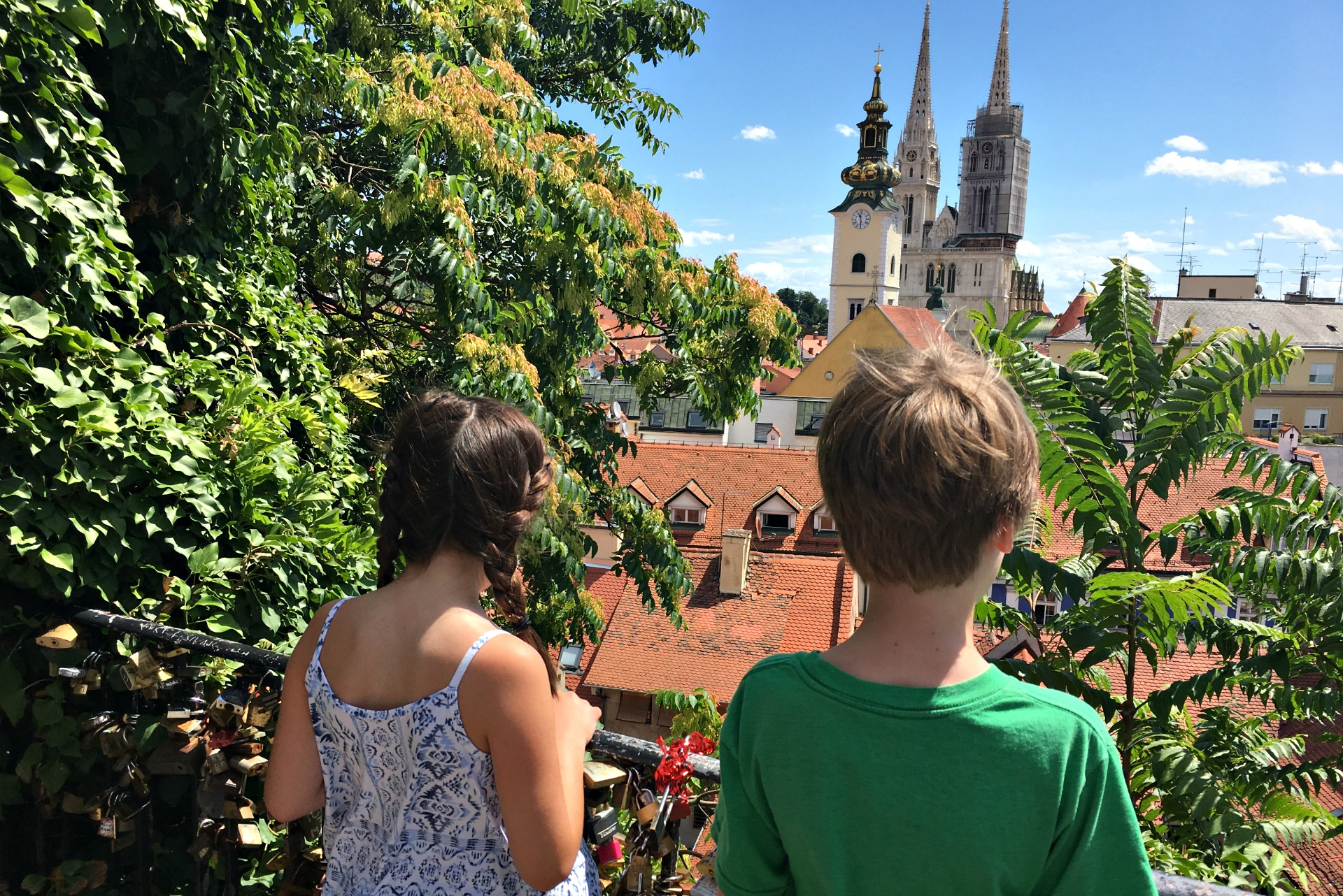 Cathedral overlook in Zagreb, Croatia