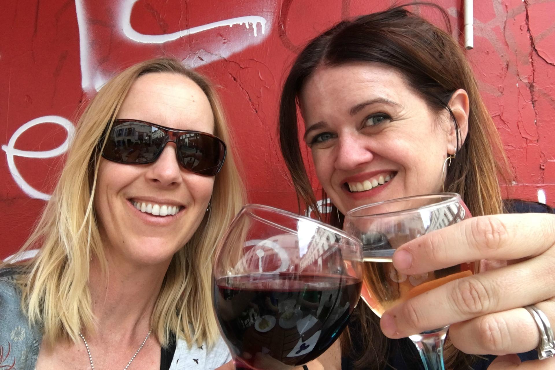 Girlfriends getaway in Paris means drinking wine