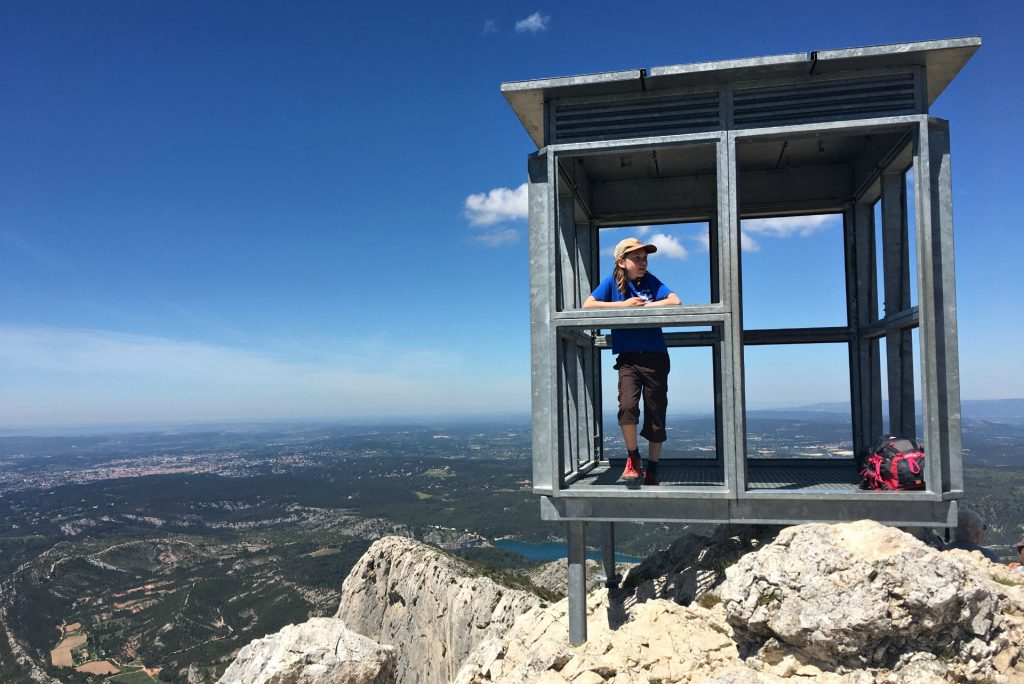 the peak of Cézanne's mountain near aix en provence