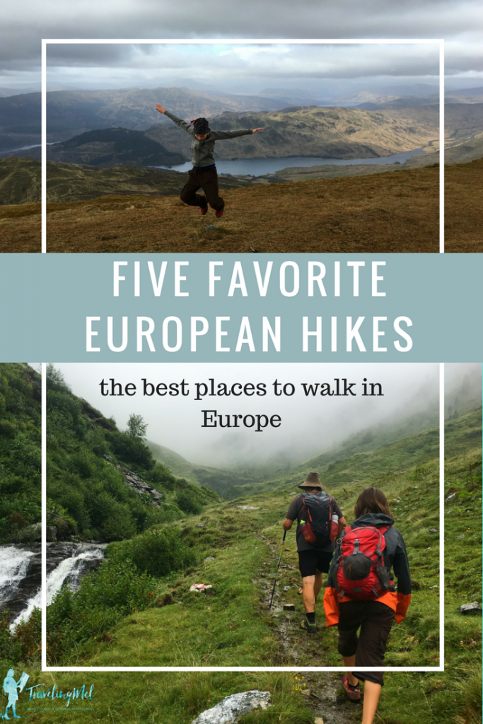 My five favorite hikes in Europe -- Croatia, Germany, Scotland, France, and Austria.