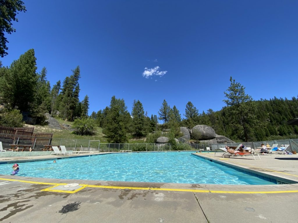 pool at Lolo hot springs near Missoula