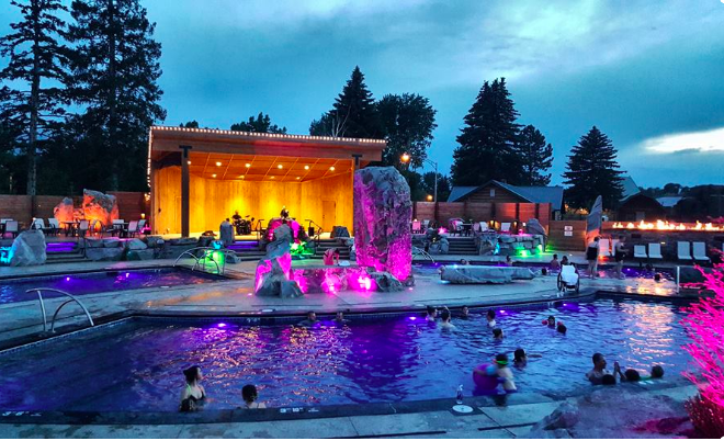 Bozeman Hot Springs and Fitness outdoor pools