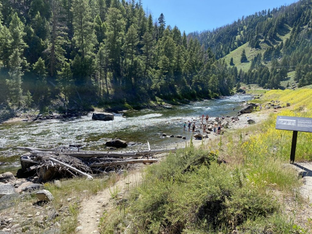Sunbeam natural Hot Springs in Idaho