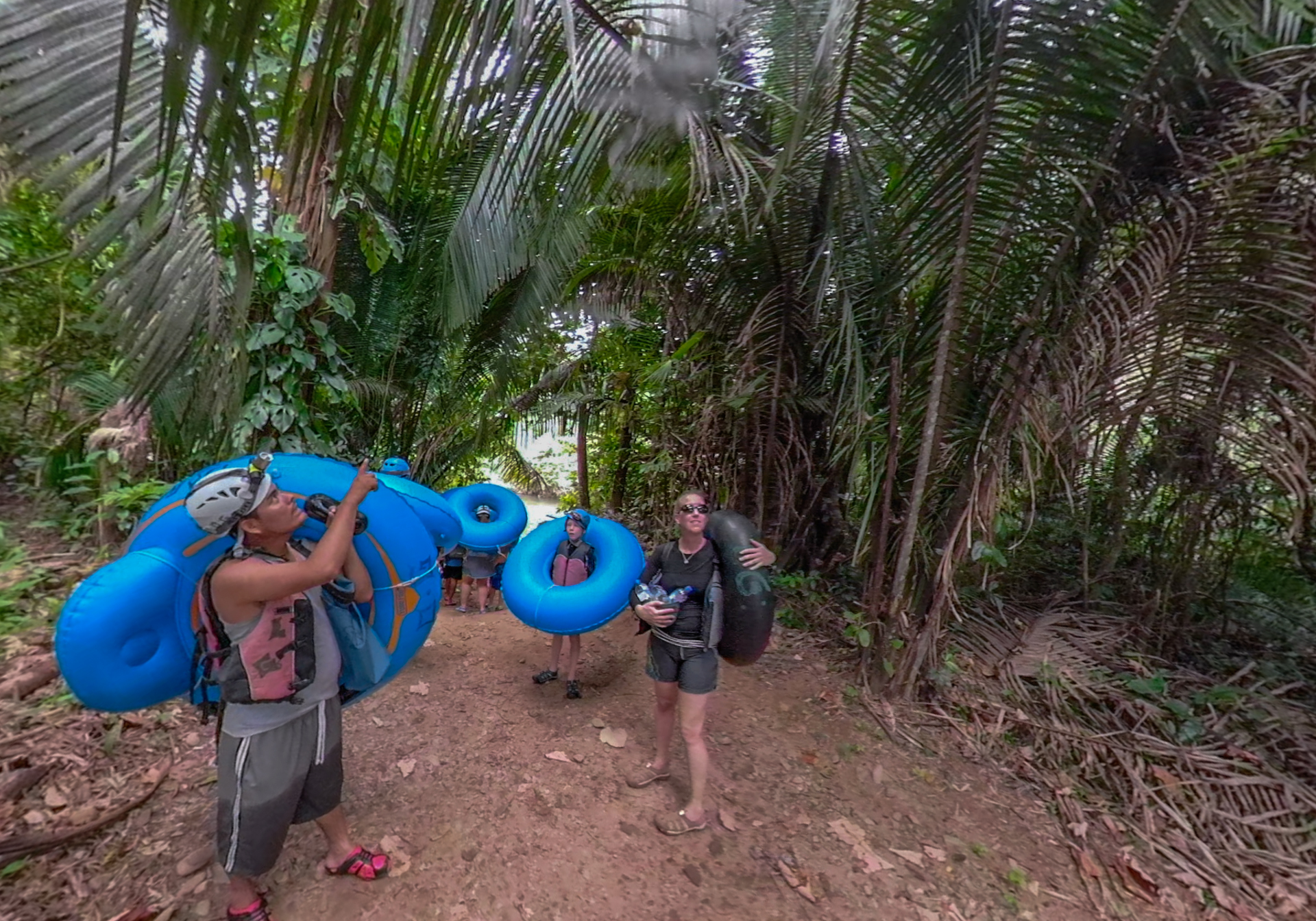 The best cave tubing in belize includes a nature walk