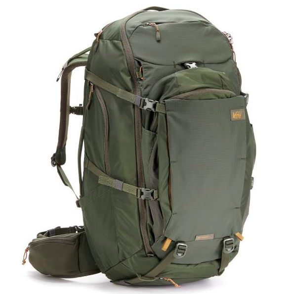 REI Ruckpack 65 best travel backpack for men