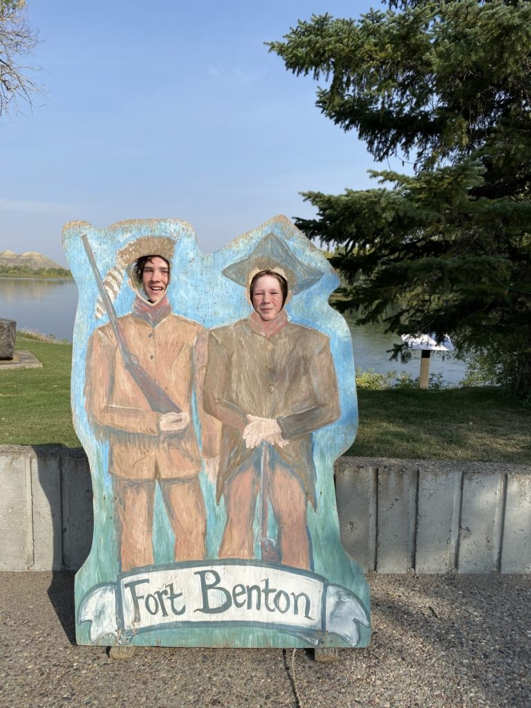Lewis and Clark Fort Benton cut out