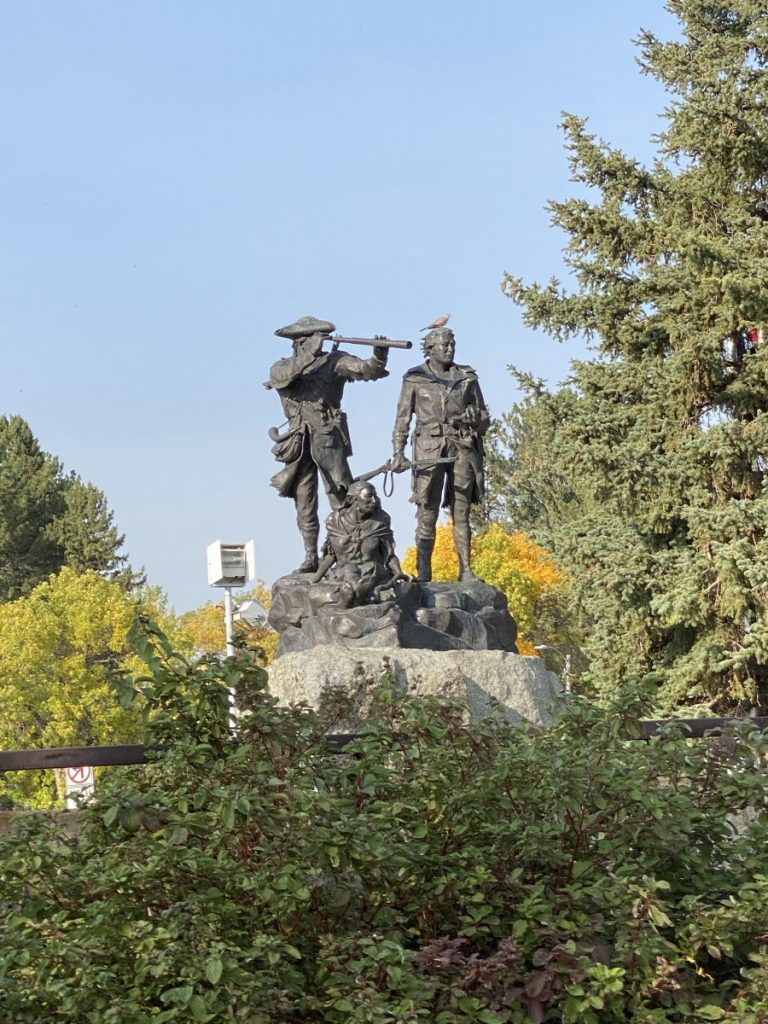 statue of Lewis, Clark, and Sacajawea