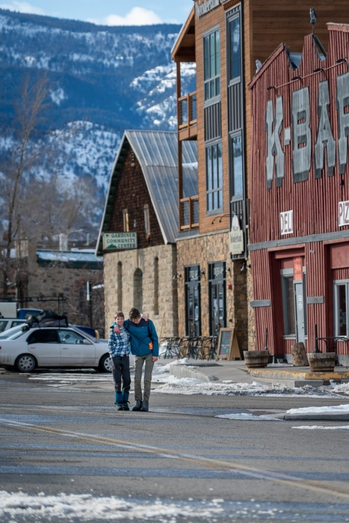 downtown Gardiner, Montana near Yellowstone