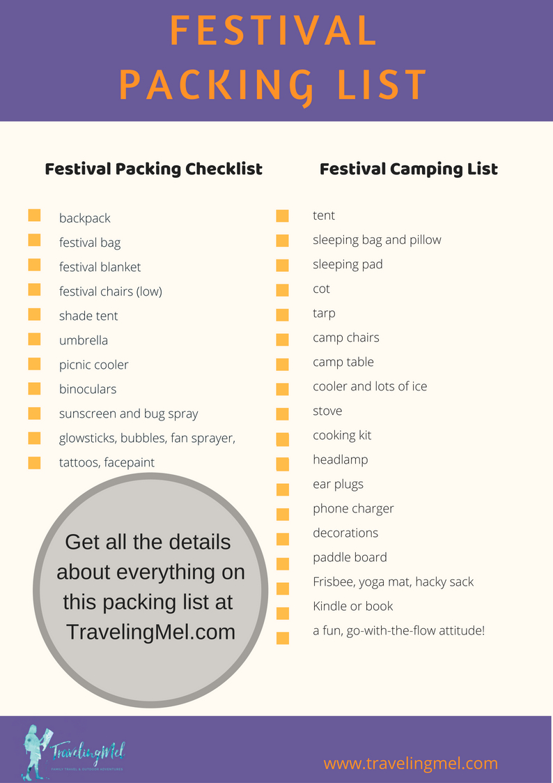 This festival camping essentials list has what to bring to a music festival. Download the free festival packing list and you are ready to go!